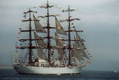 Tall Ship, probably the Dar Mlodziezy, Poland