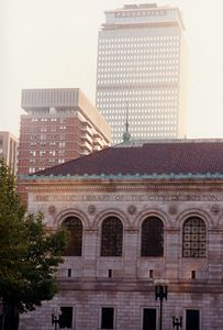 Boston Public Library and Prudential Tower