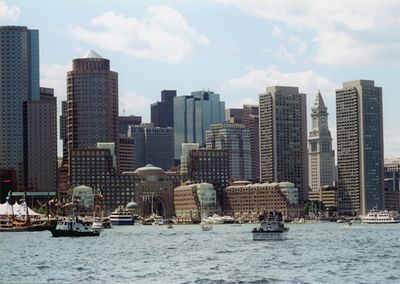 Boston Harbor (photo taken from a boat during Tall Ships 2000 festival)