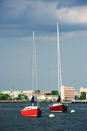 Boston Harbor Sail Boats