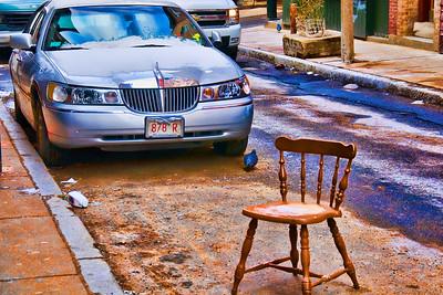 Boston parking spot saver.....