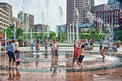 Summer in the CityThe fountains at the Rose Fitzgerald Kennedy Greenway were keeping everyone cool on this hot summer day.