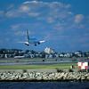 plane landing at Logan