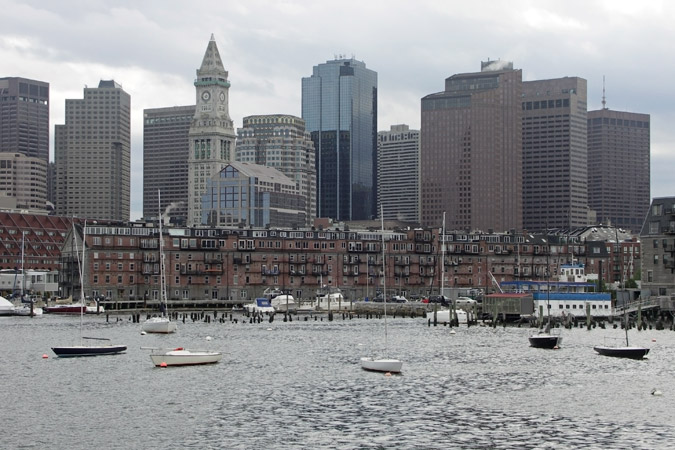 View: Ferry from Aquarium to Charlestown