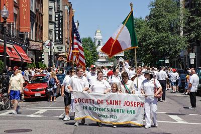 Boston's North End St. Joseph Society Feast Celebration Parade