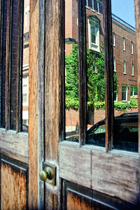 Boston North End Doorway Reflection