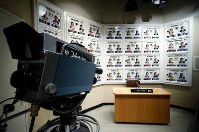 Recreation of Walter Cronkites studio on election night.