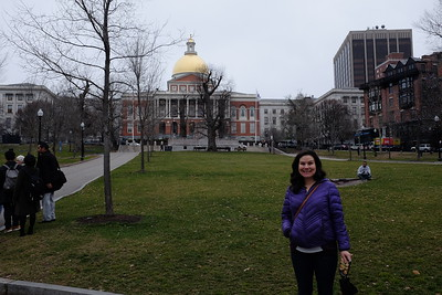 Becca in front of the capital