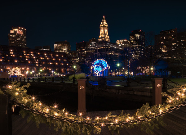 Holiday Boston Cityscape