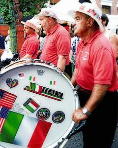 Bandmates leading the parade of St. Anthony