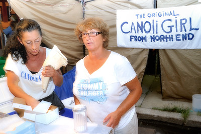 The Original Canoli Girl from the North End! The Canolis were delicious!