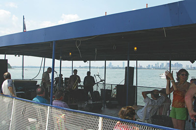 Three live bands performing on the Blues Cruise boat
