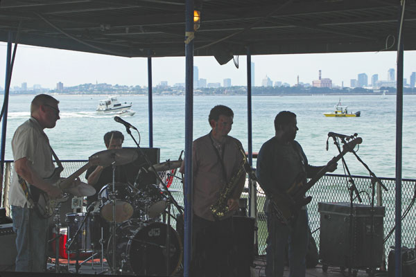 Live bands performing on the Blues Cruise boat