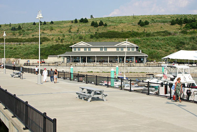The dock and snack bar