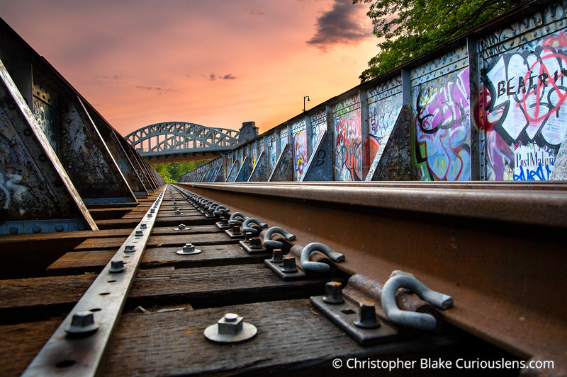 Grand Junction Railroad Bridge Sunset