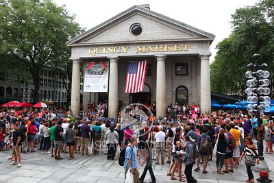 Busy day at Quincy Market