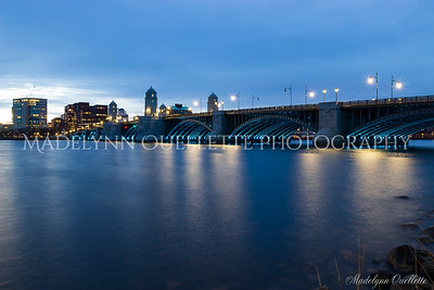 Longfellow Bridge in Blue