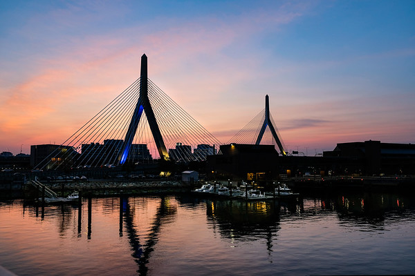 Zakim Bridge at Sunset