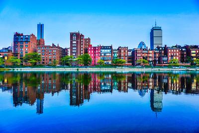 Boston Back Bay Brownstones Reflections