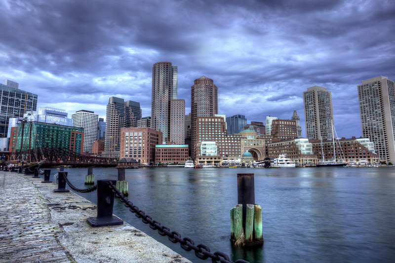 The Boston skyline seen from Fan Pier