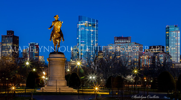 George Washington and Boston Skyline