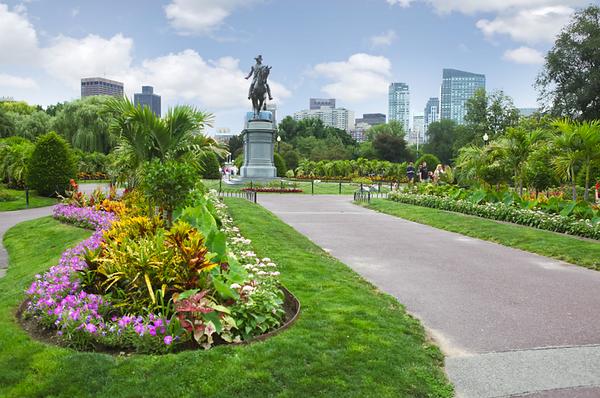 George Washington in Boston's Public Garden