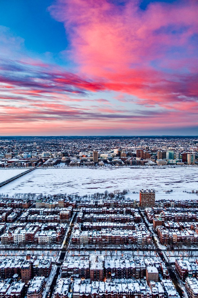 Boston Winter Sunset