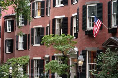 Louisburg Square in the Beacon Hill neighborhood of Boston, Massachusetts