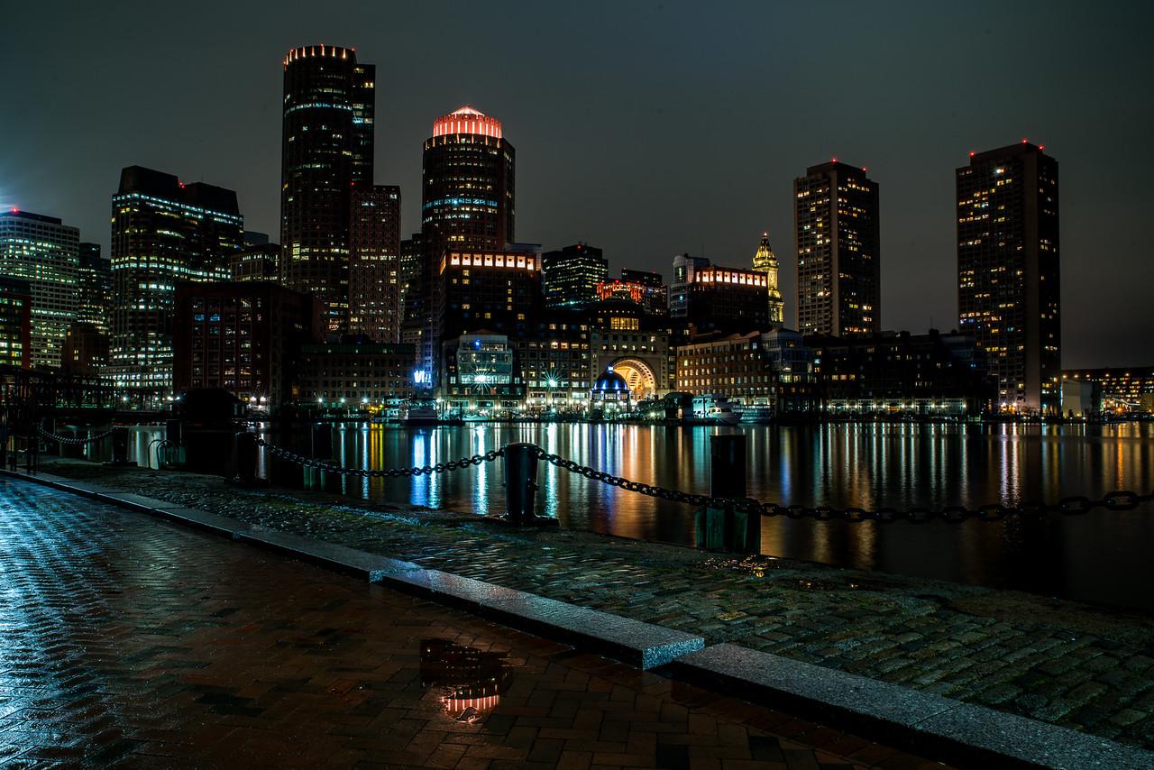 tiny reflection for the Boston skyline