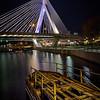 Charles River Locks at Night