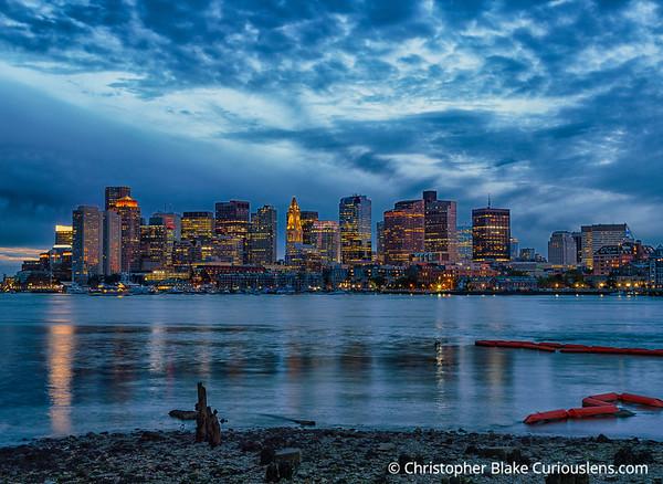 Blue Light - Boston downtown