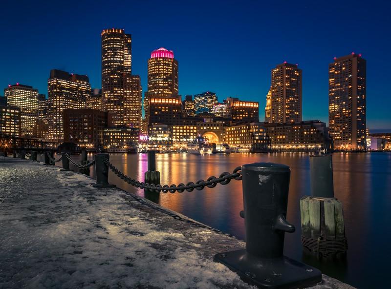 Boston Harbor from Fan Pier Park