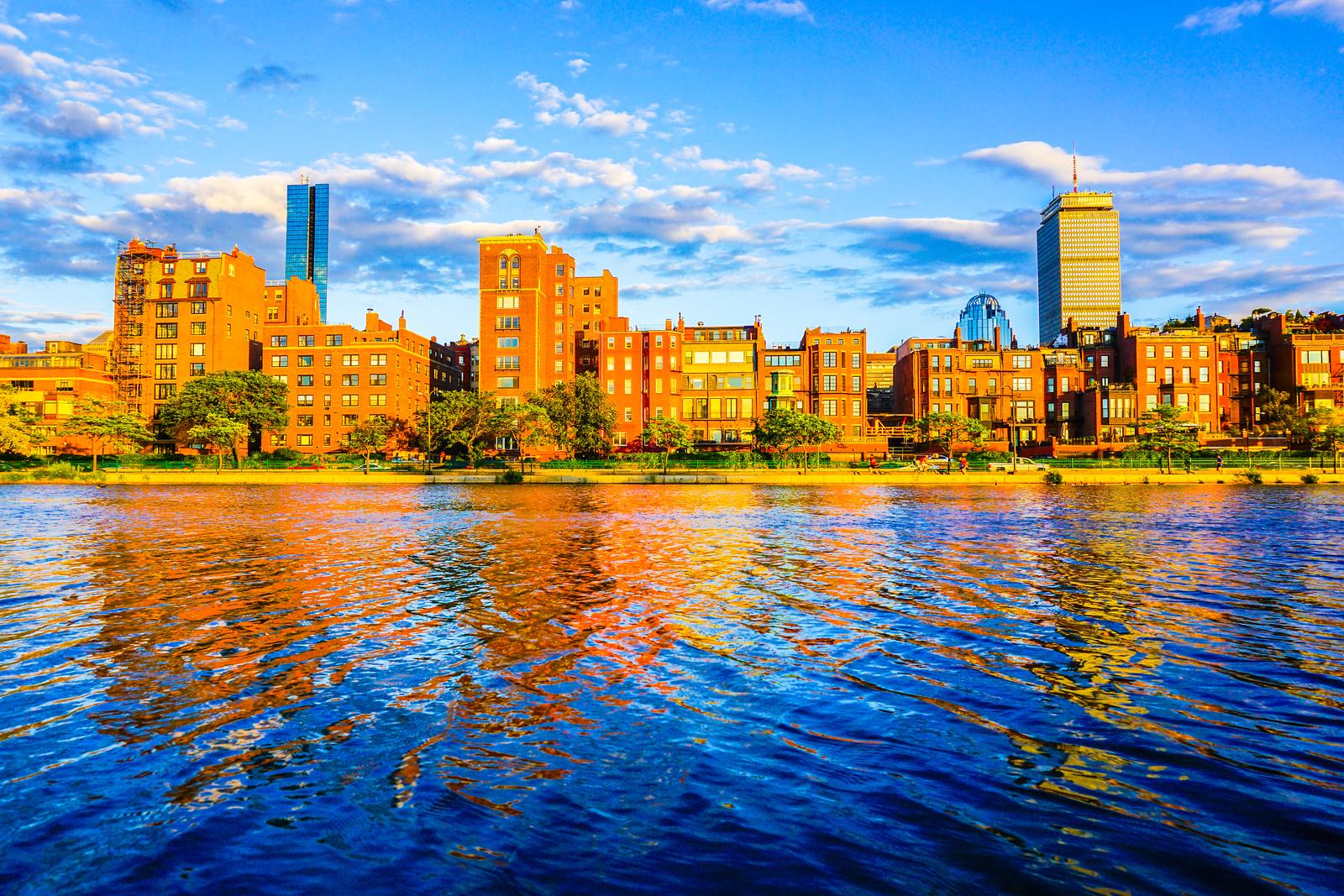 Boston Back Bay Brownstones at Golden Hour