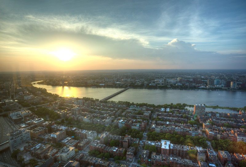 The view from the Prudential Skywalk Observatory