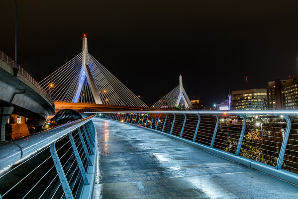 Walking path to Zakim Bridge