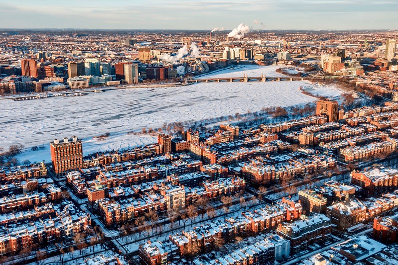 Boston Snowy Cityscape