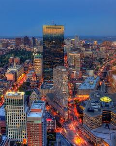 Boston Skyline Back Bay Reflections