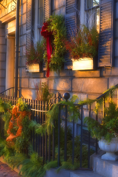 Boston Holiday Doorstep