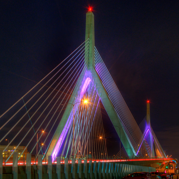 Leonard P Zakim Bridge - Pink