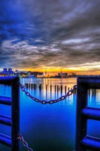 Sundown in Boston Harbor