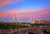 Leonard P Zakim Bridge Sunset