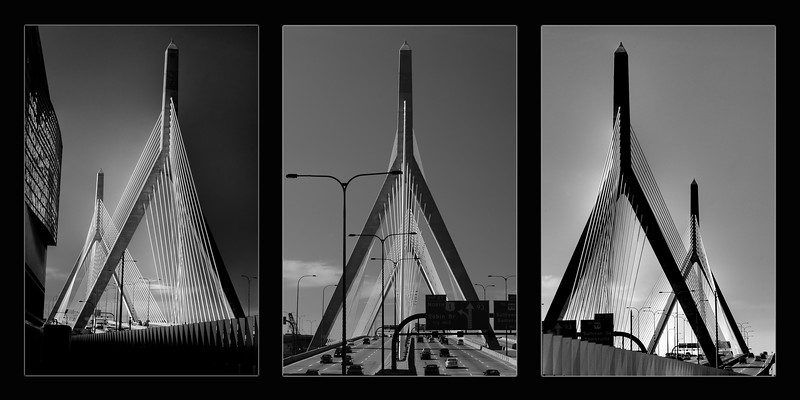 Zakim Memorial Bridge Triptych