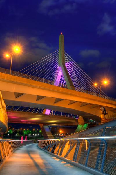 Foot Bridge Under the Zakim Bridge
