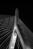 Leonard P Zakim Bridge - 2 - B&W
