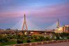 Leonard P Zakim Memorial Bridge Sunset