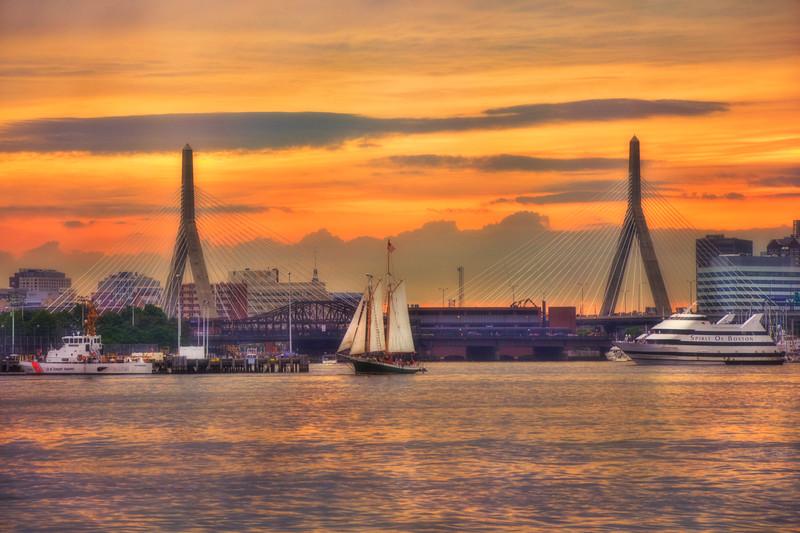 Zakim Bridge Sunset