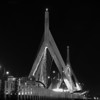 Leonard P Zakim Bridge - B&W