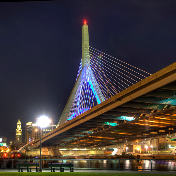 The Zakim over Paul Revere Park