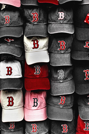 B for BoSox - Red Sox Caps