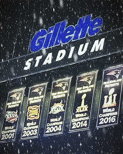 Gillette Stadium in Snow